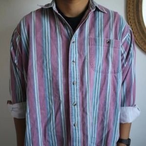 Vintage Hipster Members Only faded button up